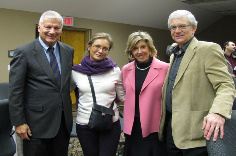 Bill Catucci, a Fordham student, Karen Jeisi and Darwin Gillett  at Fordham's Accelerated Executive MBA Program